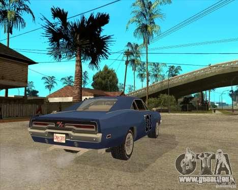 Général Lee Dodge Charger General Lee pour GTA San Andreas sur la vue arrière gauche