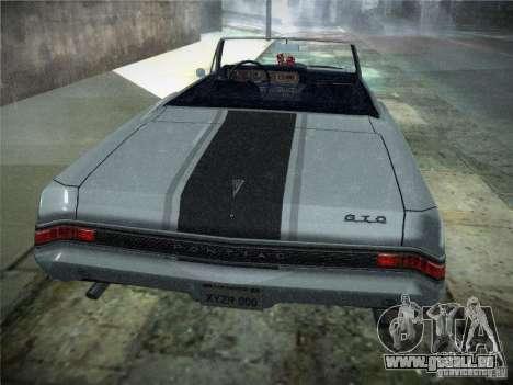 Pontiac GTO 1965 für GTA San Andreas Rückansicht