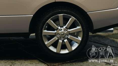 Range Rover Supercharged 2008 pour GTA 4 vue de dessus