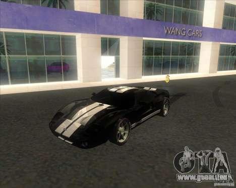 Ford GT stock für GTA San Andreas zurück linke Ansicht