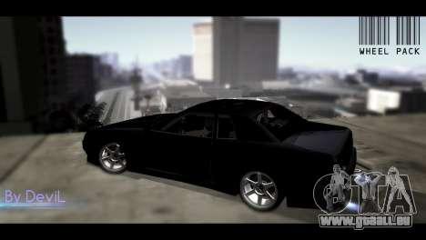 Roues de Pak JDM pour GTA San Andreas