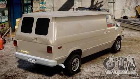 Chevrolet G20 Vans V1.1 pour GTA 4 est une vue de l'intérieur