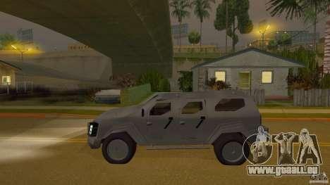 Gurkha LAPV pour GTA San Andreas sur la vue arrière gauche