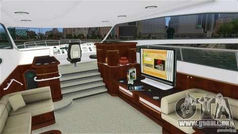 Luxury Yacht für GTA 4 linke Ansicht