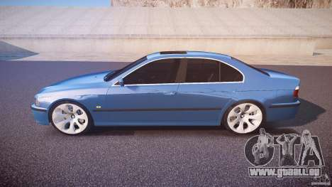 BMW 530I E39 e63 white wheels pour GTA 4 est une gauche