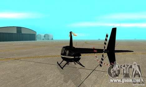 Robinson R44 Raven II NC 1.0 noir pour GTA San Andreas vue de droite