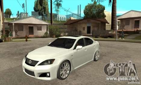 Lexus IS F 2009 pour GTA San Andreas laissé vue