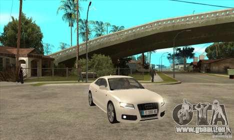 Audi S5 2008 für GTA San Andreas Rückansicht