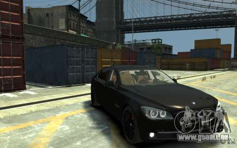 BMW ActiveHybrid 7 2010 pour GTA 4 Vue arrière