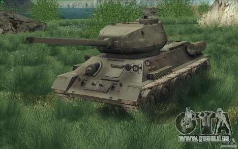 T-34-85 depuis le jeu COD World at War pour GTA San Andreas vue de droite