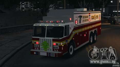 FDNY Rescue 1 [ELS] für GTA 4 obere Ansicht