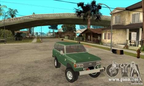 Toyota Land Cruiser pour GTA San Andreas vue arrière