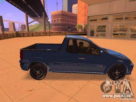 Nissan NP200 pour GTA San Andreas sur la vue arrière gauche