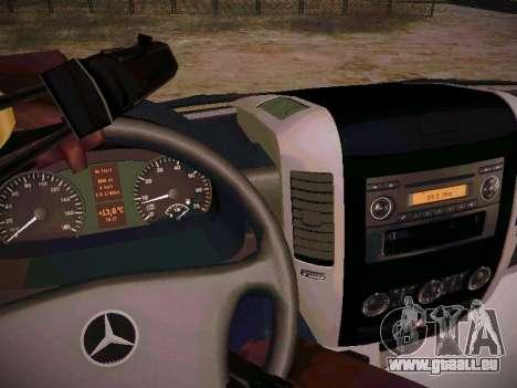 Mercedes Benz Sprinter Ambulance pour GTA San Andreas vue intérieure