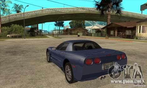Chevrolet Corvette 5 pour GTA San Andreas moteur