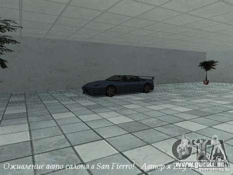 Showroom de travail à San Fierro v1 pour GTA San Andreas deuxième écran