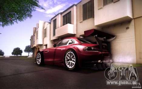 BMW Z4 E89 GT3 2010 pour GTA San Andreas vue de côté