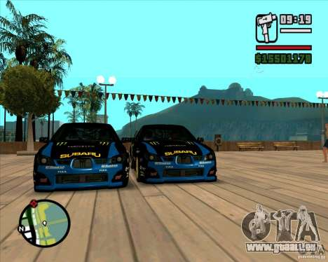 Subaru Impreza WRC STI 2007 Ken Block für GTA San Andreas linke Ansicht