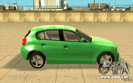 BMW 118i pour GTA San Andreas vue intérieure