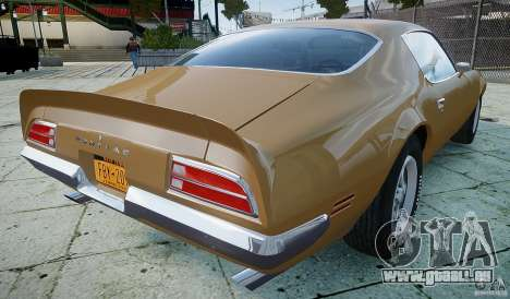 Pontiac Firebird 1970 pour GTA 4 Vue arrière de la gauche