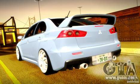 Mitsubishi Lancer Evolution X für GTA San Andreas Innen