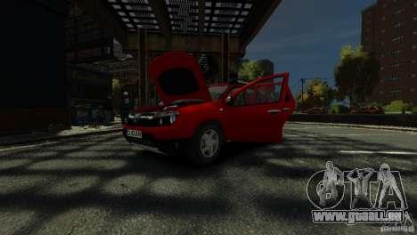 Dacia Duster SUV 4x4 2010 für GTA 4 Unteransicht