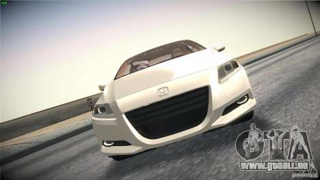 Honda CR-Z 2010 V1.0 für GTA San Andreas obere Ansicht