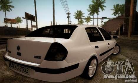 Renault Clio Sedan pour GTA San Andreas laissé vue