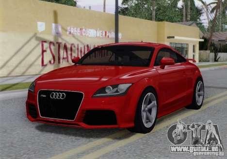 Audi TT-RS Coupe pour GTA San Andreas vue de dessous