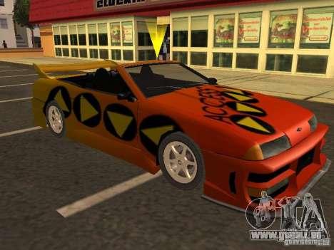 Elegie von Convertible Tops für GTA San Andreas Räder