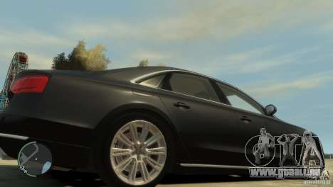 Audi A8 V8 FSI für GTA 4 obere Ansicht