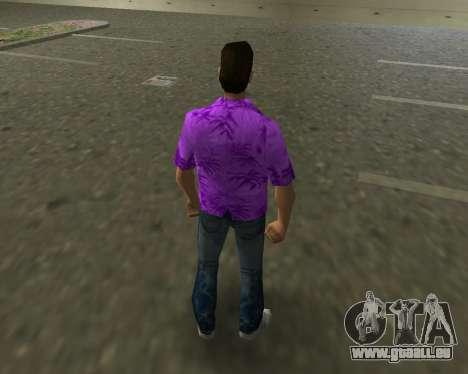 Chemise violette GTA Vice City pour la troisième écran