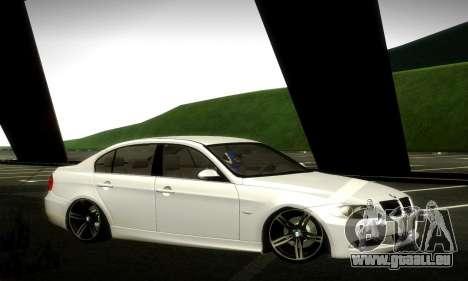 BMW 330 E90 pour GTA San Andreas vue de côté