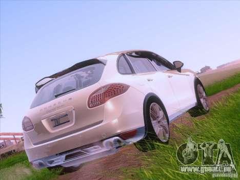 Porsche Cayenne Turbo 958 2011 V2.0 pour GTA San Andreas sur la vue arrière gauche
