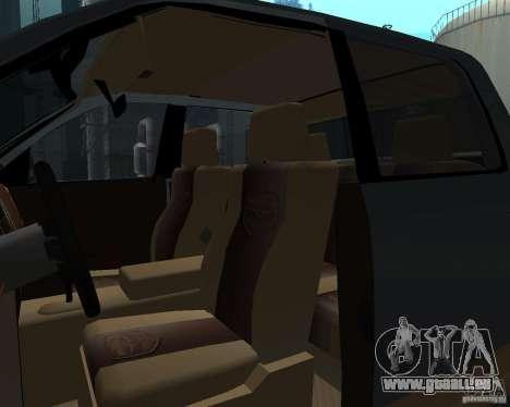 Dodge Ram Hemi pour GTA San Andreas vue intérieure