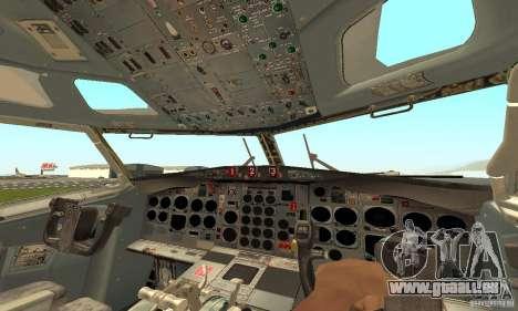 Boeing 727-100 American Airlines für GTA San Andreas zurück linke Ansicht