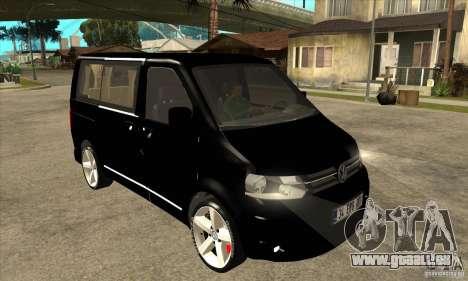 Volkswagen Caravelle 2011 SWB pour GTA San Andreas vue arrière
