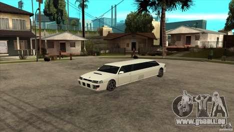 Limousine de Sultan pour GTA San Andreas vue arrière