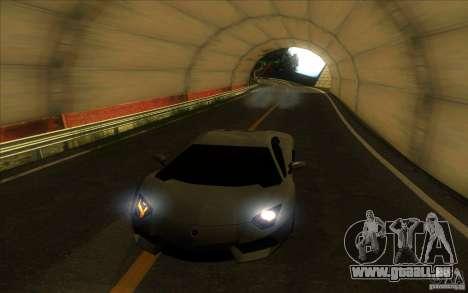 Lamborghini Aventador LP700-4 für GTA San Andreas Innen