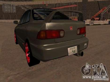 Honda Integra TypeR pour GTA San Andreas vue arrière