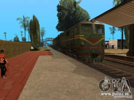 Diesel Lokomotive 2te10l für GTA San Andreas zurück linke Ansicht