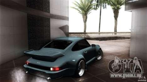 Porsche 911 Turbo RWB DS pour GTA San Andreas sur la vue arrière gauche