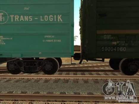 Wagon # 59004960 pour GTA San Andreas sur la vue arrière gauche