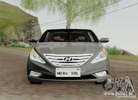 Hyundai Sonata 2012 pour GTA San Andreas sur la vue arrière gauche