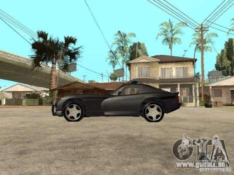 Dodge Viper Police pour GTA San Andreas laissé vue