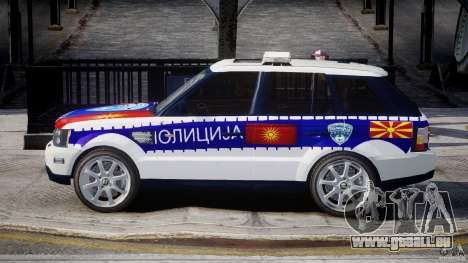 Range Rover Macedonian Police [ELS] für GTA 4 linke Ansicht