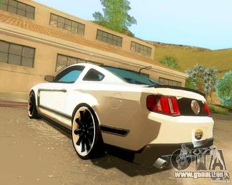 Ford Mustang Boss 302 2011 für GTA San Andreas linke Ansicht