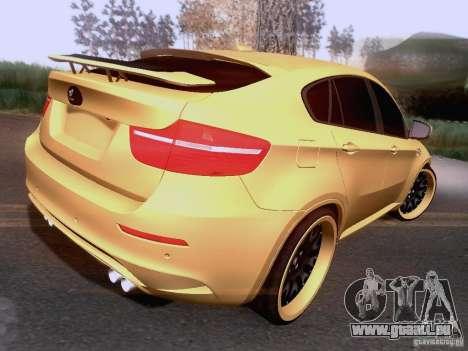 BMW X6M Hamann für GTA San Andreas Innenansicht