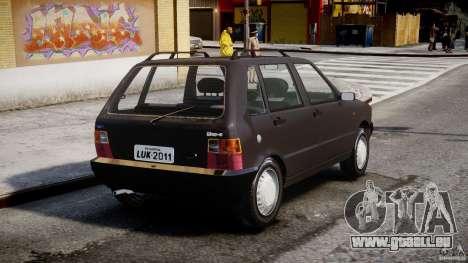 Fiat Uno 70SX 1989-1993 für GTA 4 hinten links Ansicht