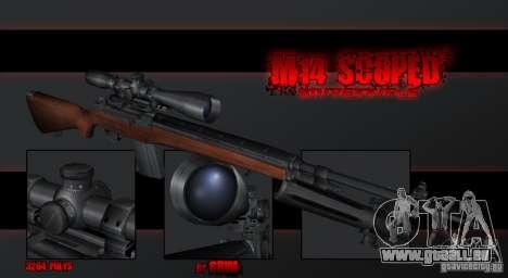 M14 Sniper pour GTA San Andreas deuxième écran